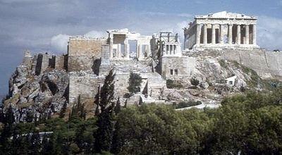 Acropolis vanaf de Pnyx